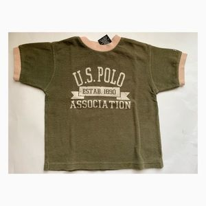 Used U.S. Polo Assn. Boys Green Shirt - Size 5/6